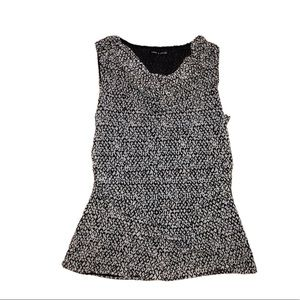 CABLE & GAUGE Black and White Sleeveless T…